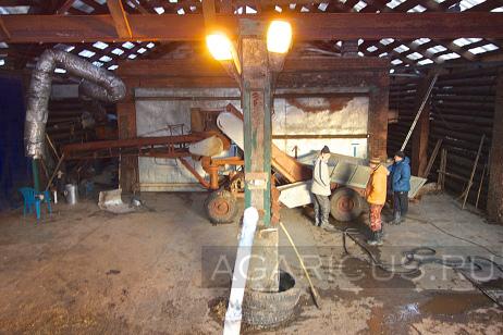 Реконструированный компостный цех. С этой площади получают 130-140 тонн компоста 2 фазы каждый месяц.
