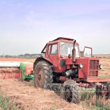 Прессование соломы озимой ржи из валков