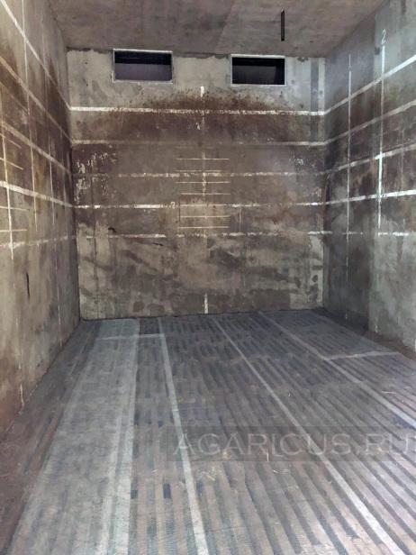 Бункер 1 фазы, подготовленный к загрузке компоста